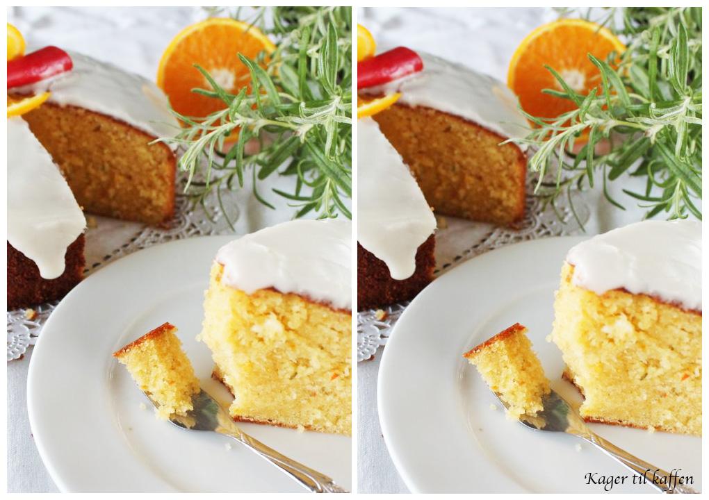 Kage med appelsin, rosmarin og chili
