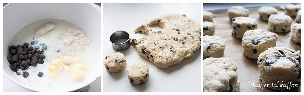 Making chokolade scones