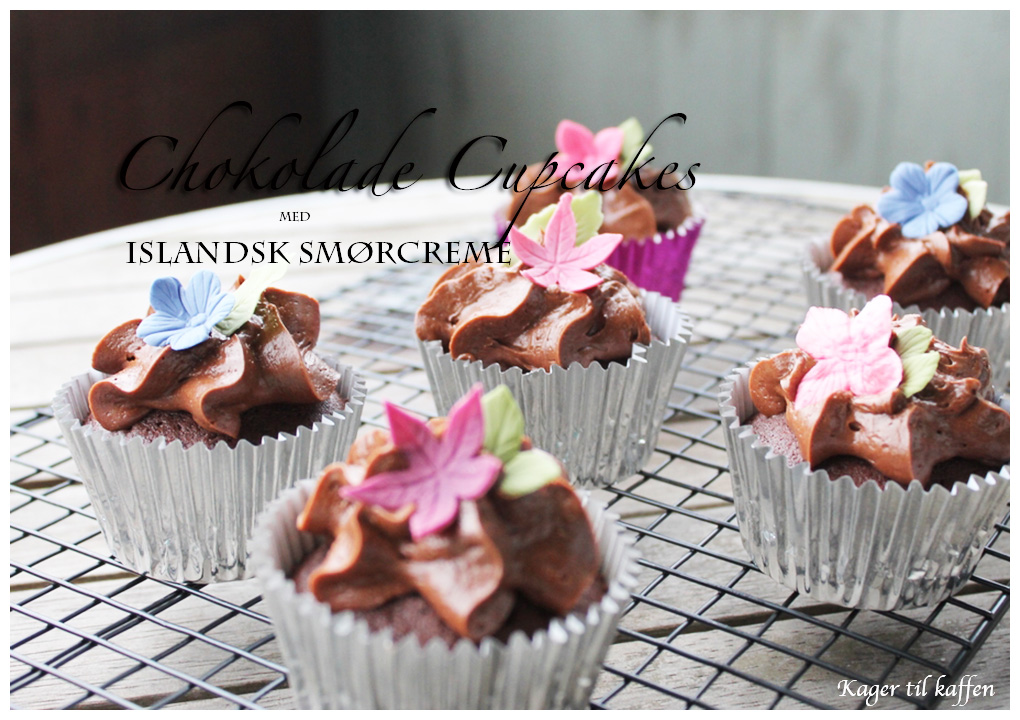 Chokolade cupcakes med italiensk smørcreme