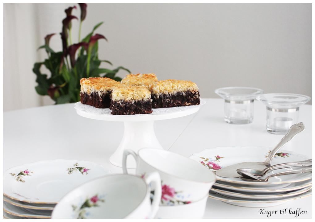 chokoladekage med karmel kokos