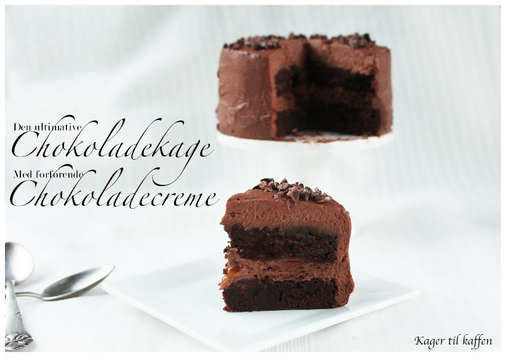 Chokolade kage med chokoladecreme