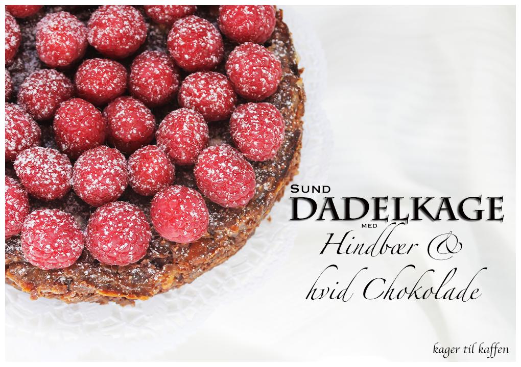 Sund Dadelkage med Hindbær & hvid Chokolade