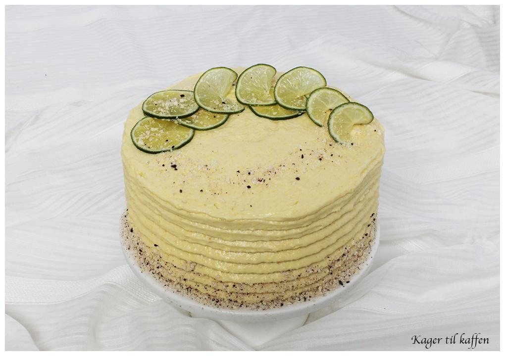 Lime og mango kage