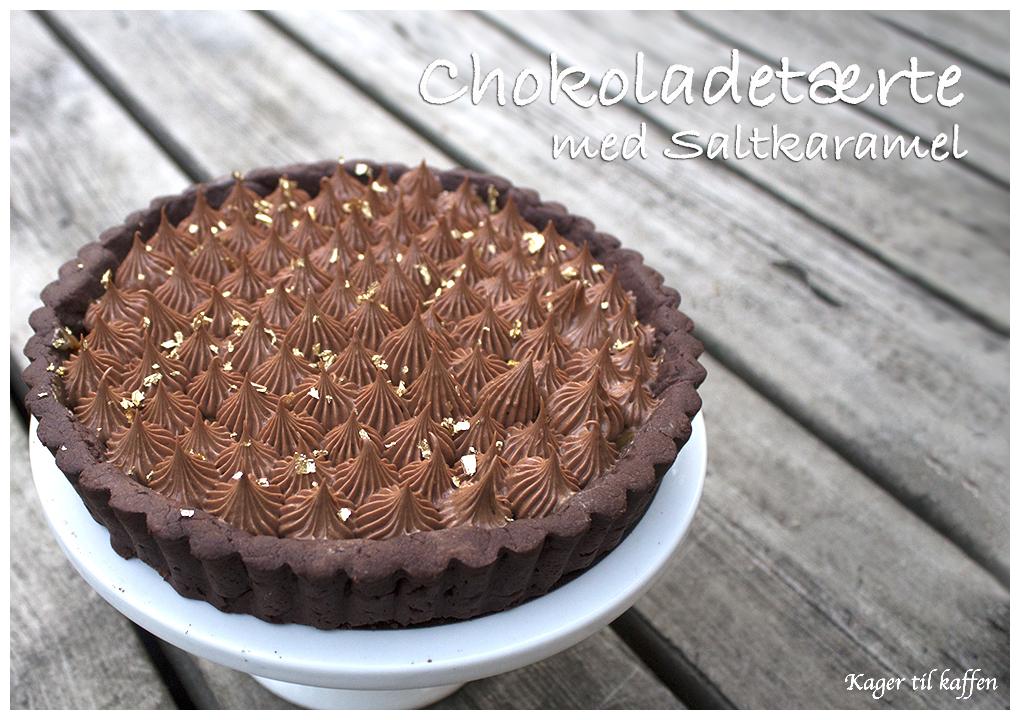 Chokoladetærte med Saltkaramel