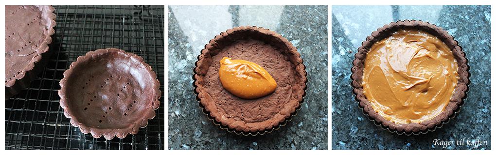 Making Chokoladetærte med Saltkaramel
