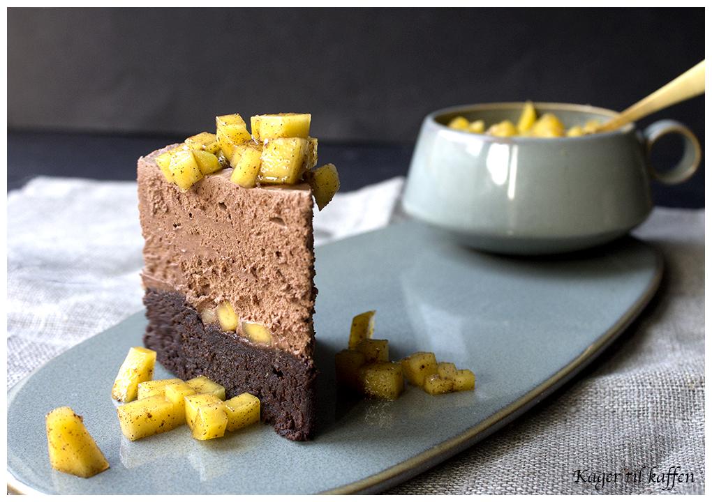chokolademoussekage med mango_